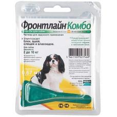Капли Фронтлайн для собак массой 2-10кг от блох и клещей S, 1 пипетка