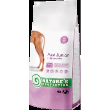 Для растущих собак крупных пород (для собак весом свыше 25 кг) Maxi Junior Natures protection